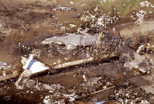 中華航空140便墜落の写真
